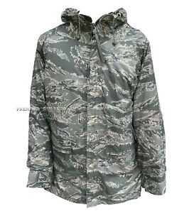 Genuine US Airforce USAF ABU Camo Waterproof Jacket Size Small