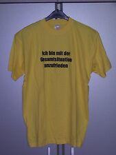 Fun Shirt Ich bin mit der Situation ... Geschenk Geburtstag Partygag gelb M neu