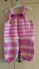 12-18mths handknitted dungarees new reduced