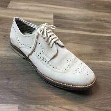 Men's Kenneth Cole Reaction Grow-Ceeds Oxfords Shoes Size 10 M Beige Suede AJ5