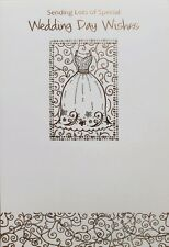 Sending lots of special Wedding Day wishes greeting card, Wedding dress, new