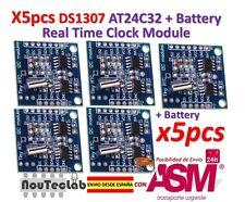 5pcs DS1307 AT24C32 I2C RTC MODULO RELOJ para AVR ARM PIC para Arduino