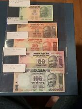 India Banknote P98 97 96 95 94   100 Rupees 2011, UNC Set