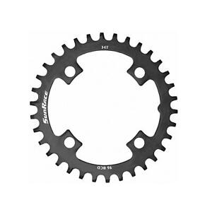 SunRace Chainring 30T Narrow-Wide 96BCD Steel Black For Bike Bicycle