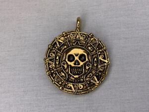 Pirates of The Caribbean, Elizabeth Swan Cursed Aztec Coin Pendant, Solid Metal,