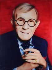 "Bruce Briggs, ""George Burns"" - Original Acrylic on Canvas, Hand Signed"