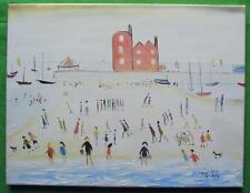 Highly Evocative Original Oil Painting by John Goodlad A Day at the Seaside C