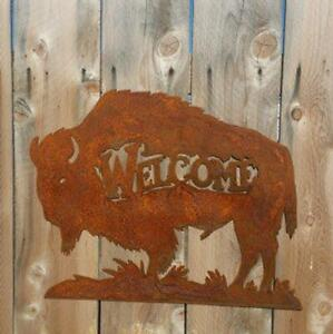 Buffalo Bison Sign/Cabin décor/Lodge/home décor/Western/Home on the Range/Metal