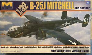 """HK Models 1/32 B-25J """"The Bomber"""" #01E01 New"""