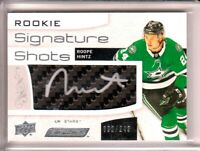 2018-19 Upper Deck Engrained Rookie Signature Shots Roope Hintz RC AUTO /249
