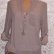 3/4 Arme Damenblusen,-Tops & -Shirts im Blusen-Stil mit Baumwolle für Business