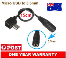 2x Micro USB Male to 3.5mm Female Headphone AUX Jack Audio Adapter Sync Cable AU