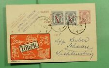 Dr Who 1948 Belgium Ovpt Uprated Postal Card Advertising Jette f80503