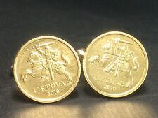 Lithuania  coin cufflinks Lithuanian Knight