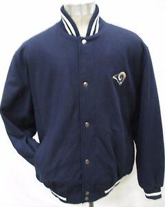 Los Angeles Rams NFL G-III Men Large Snap-Up 100% Wool Jacket NFL