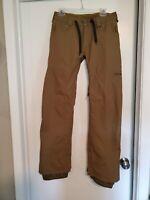 Burton Dryride khaki snowboard pants small 32x30