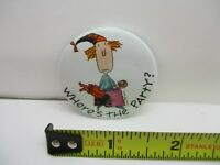 """Vintage American Greetings """"Where's The Party?"""" Pinback Button Pin"""