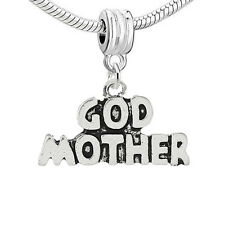 """Godmother "" Charm Bead Spacer for Snake Chain Charm Bracelets"