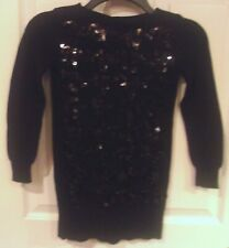 Girls GAP Kids~BLACK SEQUINS SWEATER DRESS~size 6 7 SMALL~NEW~Party~Sparkle