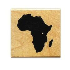 AFRICA Continent Silhouette Mounted rubber stamp, tribal #17