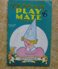 Children´s Play Mate Magazine/ September/ School Time Number/ Vol. 9/ No. 4/1937