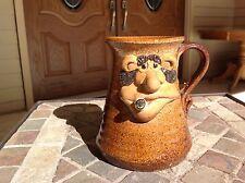 Vintage 1971 Stoneware Pottery funny face Coffee cigarette signed  Mug York, PA