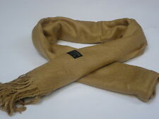 Beige 100% Pashmina Ladies Scarf Shawl Wrap Stole Ideal Gift for Winter Evenings