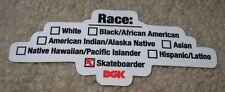 DGK Logo Skate Sticker RACE Dirty Ghetto Kids skateboards helmets decal