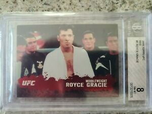 2009 Topps UFC Royce Gracie RC Red #'d 2/8 BGS 8
