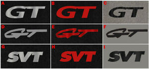 NEW 1994-2004 Ford Mustang Gt SVT Floor Mats Pair Set of 2 Embroidered Logo Pick