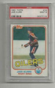 1981-82 Topps Hockey #18 Jari Kurri RC Edmonton Oilers Rookie Card PSA 9! MINT