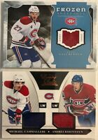 Montreal Canadiens 2 Card Jersey Lot Alex Galchenyuk Cammalleri  Kostitsyn