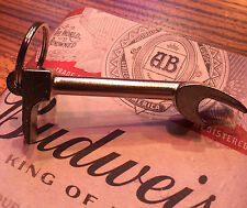 Chrome Halligan Bottle Opener Key Chain - Firefighter Gift