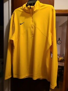 Nike Mens XL Yellow Pullover