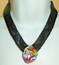 Sobral Atelie Vulcano and Gaia Bead Statement Necklace Brazil Import