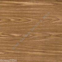 Pecan Brown Wood Oak Grain Vinyl Contact Paper Shelf Drawer Liner Peel Stick
