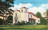 Postcard Chapel Fort McClellan Anniston Alabama