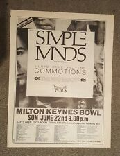 Simple Minds Milton keynes 1986 Full page press advert 33 x 43 cm mini poster