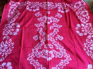 pareo 100% coton rose fleur hawai neuf
