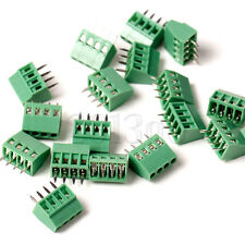 5x 4-way 4 Pin Screw Terminal Block Connector 2.54mm Pitch PCB Mount CG