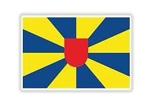 West Flanders Flag Sticker Bumper Belgium Belgique Motorcycle Bike