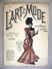 L'Art de la Mode Magazine - November, 1898 ~~ 7 colored plates