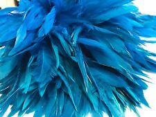 BULK 50 Aqua Blue Rooster Coque Feathers 12-20cm DIY Craft Dream Catcher