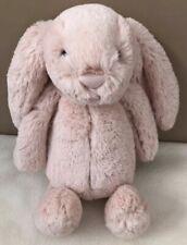 Jellycat BAS3BLU Medium Bashful Blush Bunny Rabbit Soft Toy 28cm