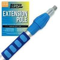 """Better Boat Telescoping Pole Extendable Pole Deck Brush 3/4"""" Universal End Pa..."""