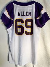 Reebok Women's NFL Jersey Vikings Jared Allen White Flirt sz L