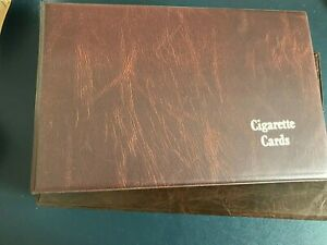 cigarette cards albums 3 with slip cover 4 without  empty