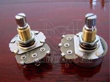"2 MVG GP242A Vintage Guitar A250K Potentiometer Alpha Pot 24mm 5/16"" Mount BRASS"