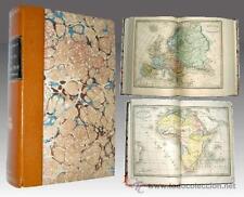 1857 - DICCIONARIO DE GEOGRAFIA con 8 Mapas dobles Color - En francés
