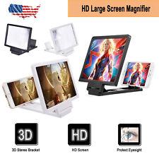 3D Mobile Phone Screen Magnifier HD Video Amplifier Smartphone Stand Bracket US